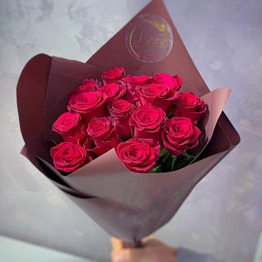 Премиум Красная Роза 15 шт 60 см