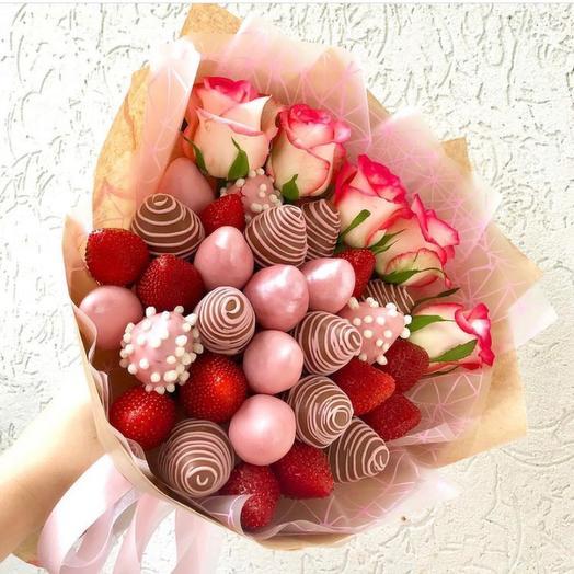 Клубника+розы
