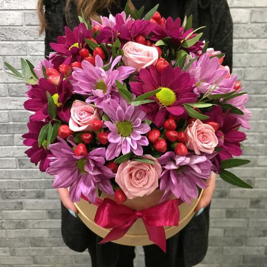 Цветы в коробке 074567