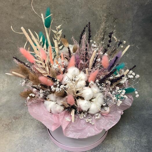 Сухоцветы в коробке