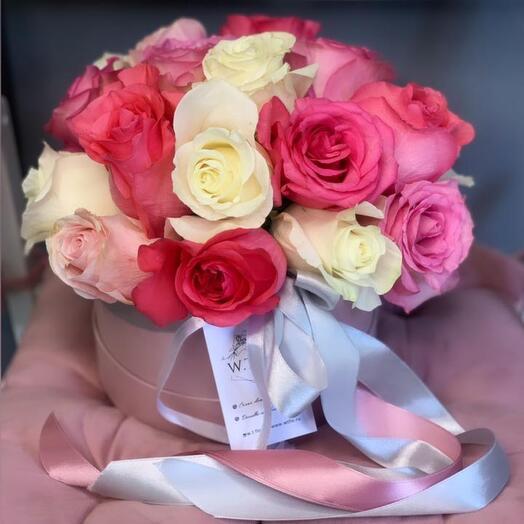 Розы 21шт в коробке