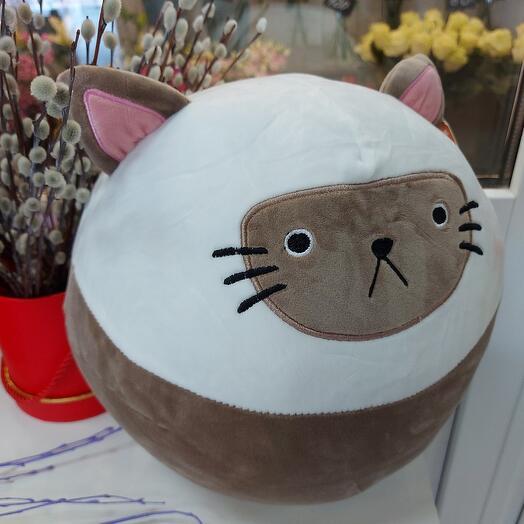 Котик-подушка