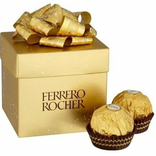 Набор конфет Ferrero Rocher из молочного шоколада, с начинкой из крема и лесного ореха, 75г