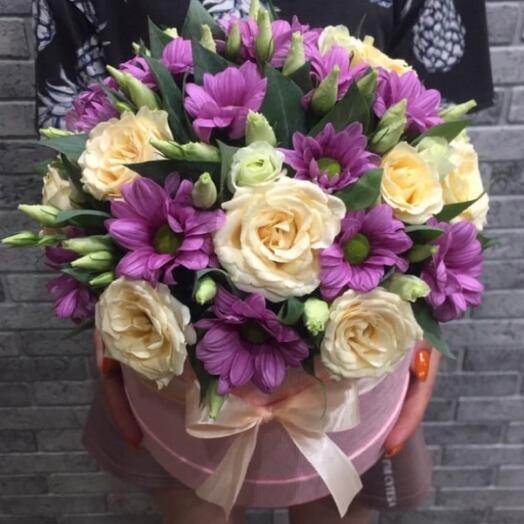 Цветы в коробке 0556