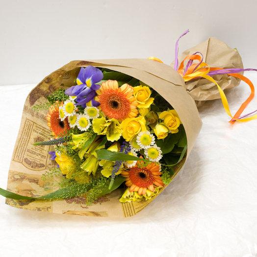 Букет цветов Путешествие к солнцу: букеты цветов на заказ Flowwow