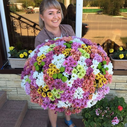 Букет кустовые хризантемы 101: букеты цветов на заказ Flowwow