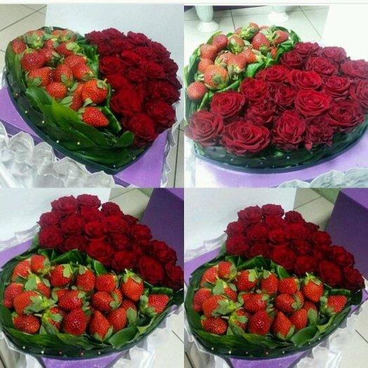 Композиция  Клубничка для любимой: букеты цветов на заказ Flowwow