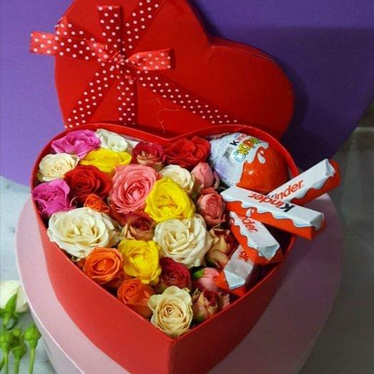 Коробочка Киндер Сюрприз: букеты цветов на заказ Flowwow