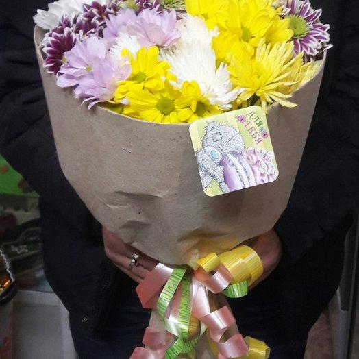 Восхитительные хризантемы: букеты цветов на заказ Flowwow