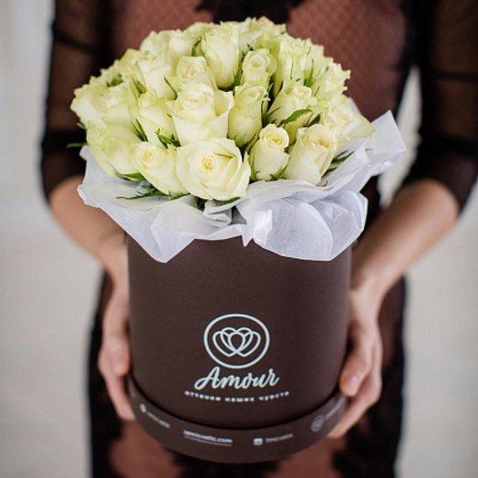 Шляпная коробка 3: букеты цветов на заказ Flowwow