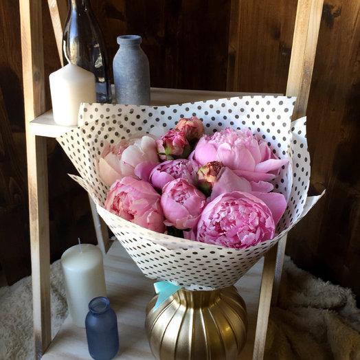 Букет из пионов : букеты цветов на заказ Flowwow