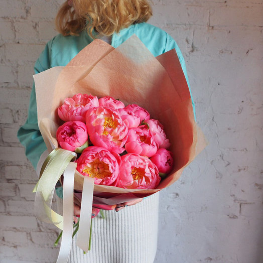 Коралловый сет 11: букеты цветов на заказ Flowwow