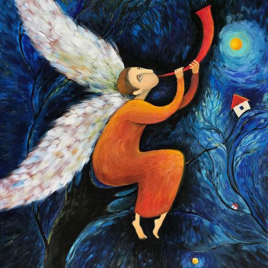 Картина Волшебный Ангел: букеты цветов на заказ Flowwow