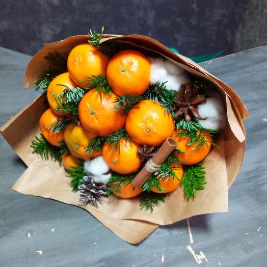 Букет из мандаринов: букеты цветов на заказ Flowwow