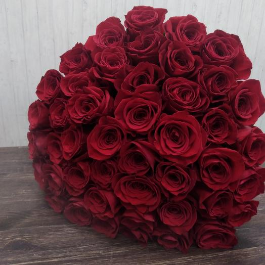 Красный монобукет: букеты цветов на заказ Flowwow