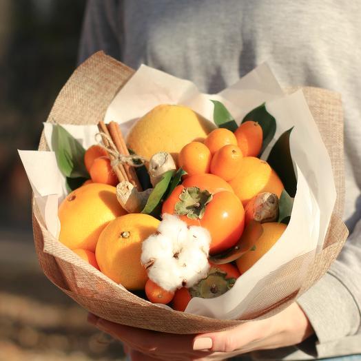 Цитрусовый букет из фруктов 47: букеты цветов на заказ Flowwow