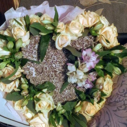 Букет ️ сердце: букеты цветов на заказ Flowwow