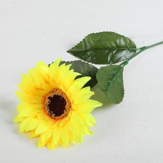 """Цветы искусственные """"Подсолнух"""" объём, 13*57 см: букеты цветов на заказ Flowwow"""