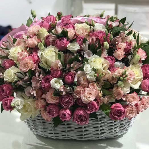 Корзина 1st Lady: букеты цветов на заказ Flowwow