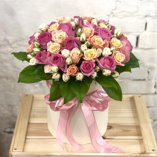 Композиция «Небо в розах»: букеты цветов на заказ Flowwow