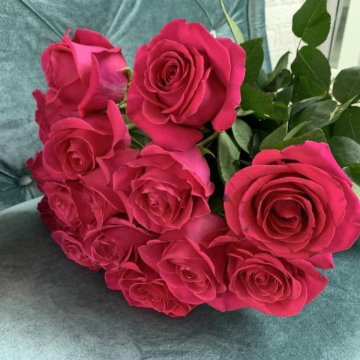 Букет из 15 роз Pink Floyd: букеты цветов на заказ Flowwow