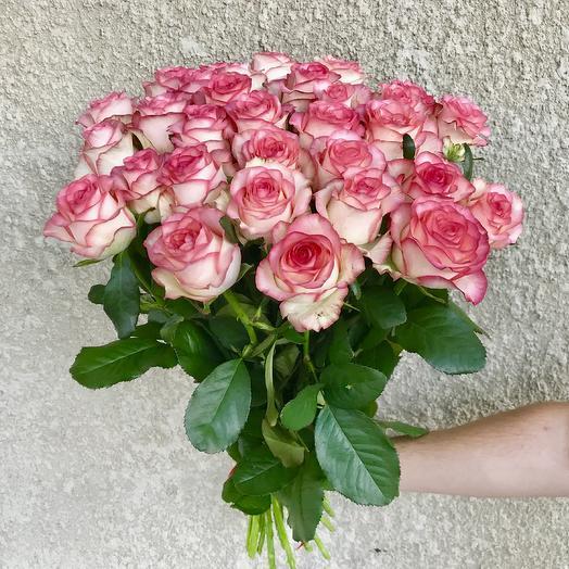 Букет нежно-розовых роз (25 шт): букеты цветов на заказ Flowwow