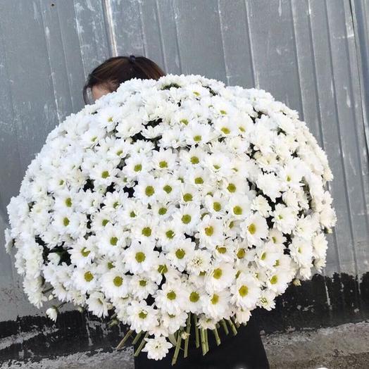 """Букет из 51 хризантемы """"Облако"""": букеты цветов на заказ Flowwow"""