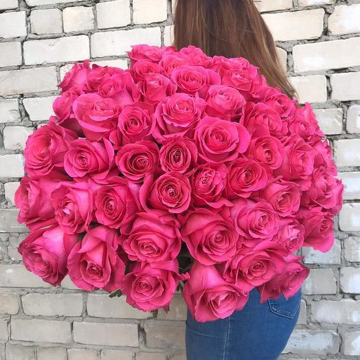 51 роза премиум класса