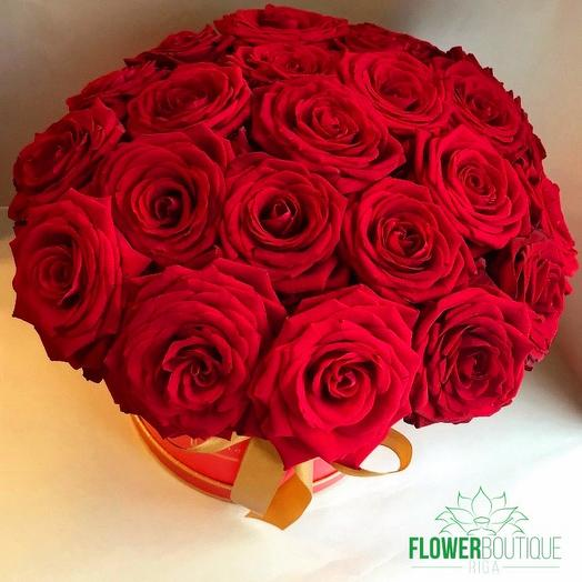 Red roses Hat box: flowers to order Flowwow
