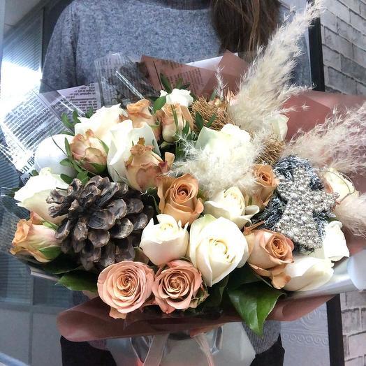 """Авторский букет """"Шоколад"""": букеты цветов на заказ Flowwow"""