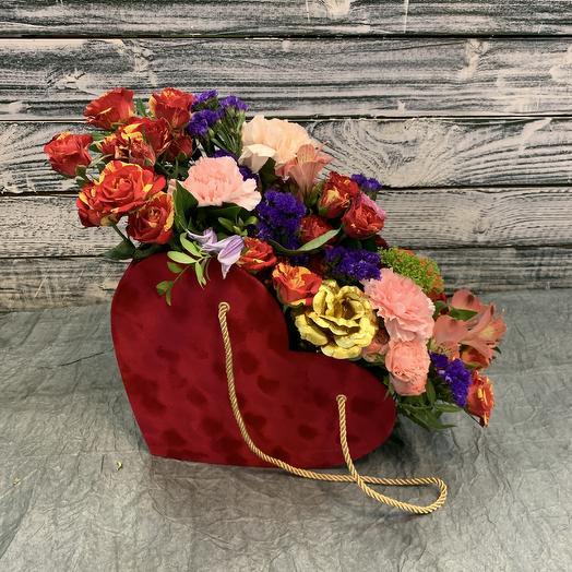 Сердце с цветами 😍: букеты цветов на заказ Flowwow