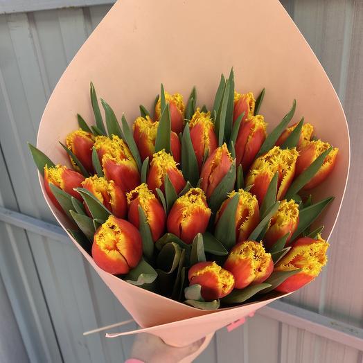 25 бахромчатых Тюльпан: букеты цветов на заказ Flowwow