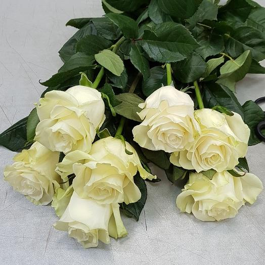 Букет из 7 белых роз 70см: букеты цветов на заказ Flowwow
