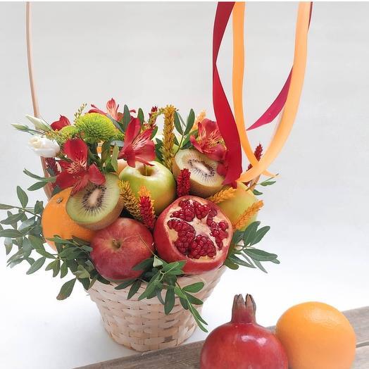 Витаминная корзинка: букеты цветов на заказ Flowwow
