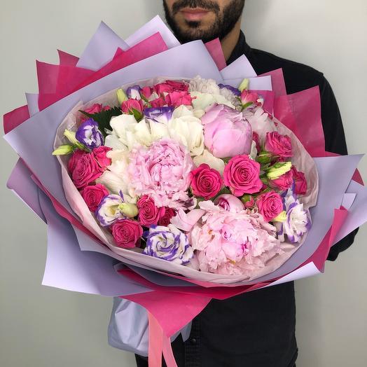 «Малиновое счастье»: букеты цветов на заказ Flowwow
