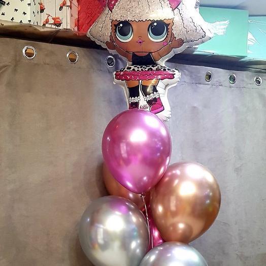 Каскад шаров для девочки