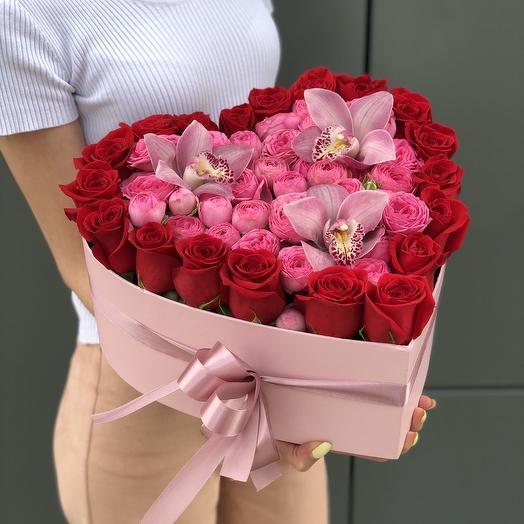 Сердце из роз  5