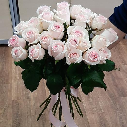 Букет из нежно розовых роз