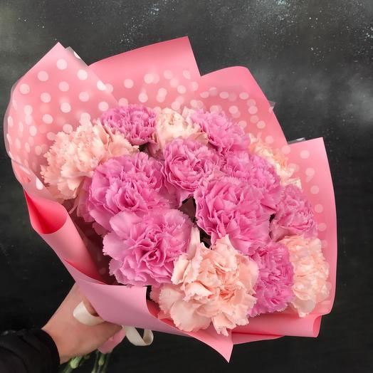 Монобукет из розовых диантусов