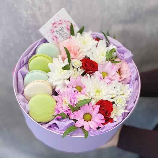 Цветы в коробке «Нежное начало»