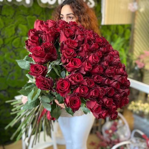 Букет « БУМ 101 Роза»