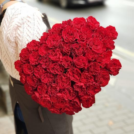 """25 Пионовидных роз """"Сердце"""""""