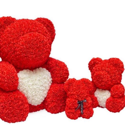 Foam roses red 40  cm