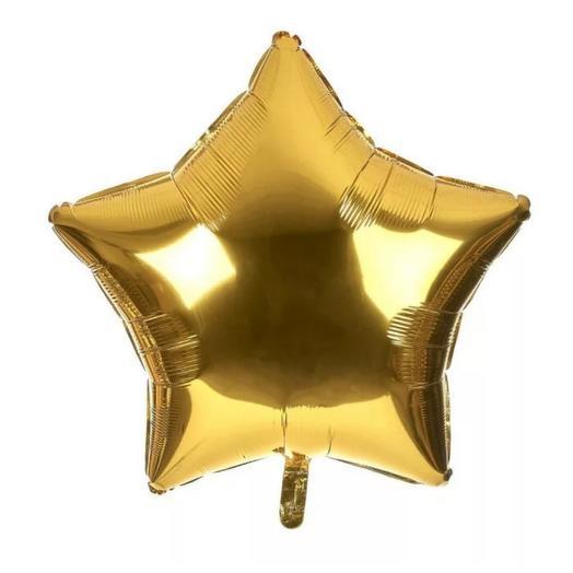 Шар фольгированный золотая звезда