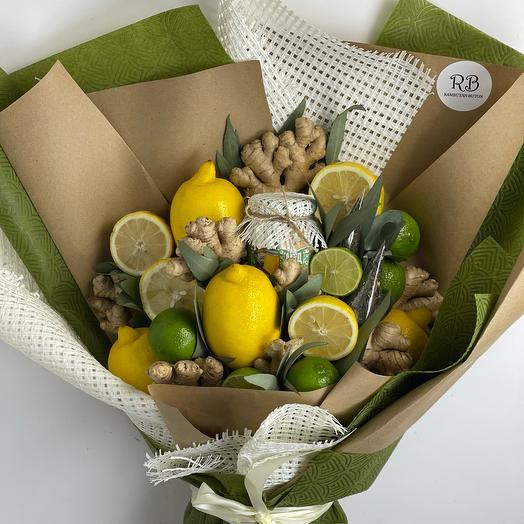 Витаминный съедобный букет из фруктов