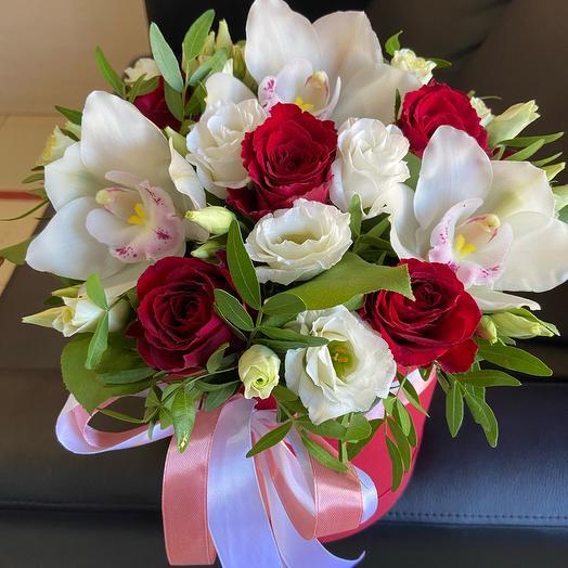 Цветы в коробке Всё  для тебя