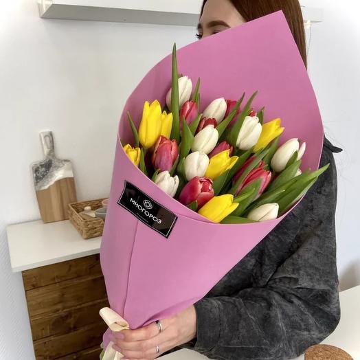 Букет из 25 голландских тюльпанов