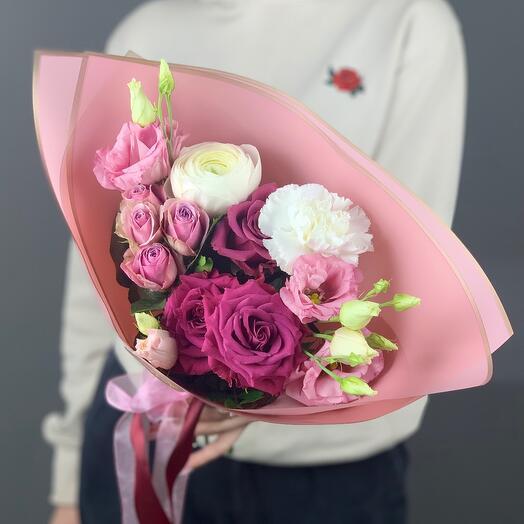 Букет «Розовая конфетка»