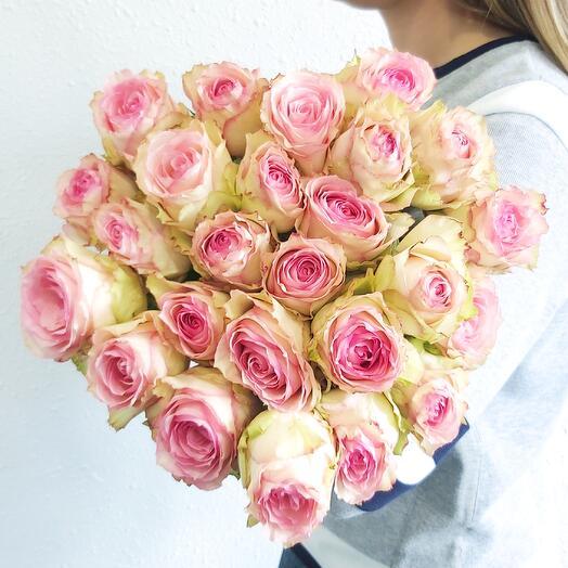 Монобукет Роза Esperance (одноголовая) 60 см под ленту - 25 шт