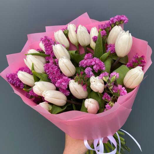 Букет тюльпаны 19